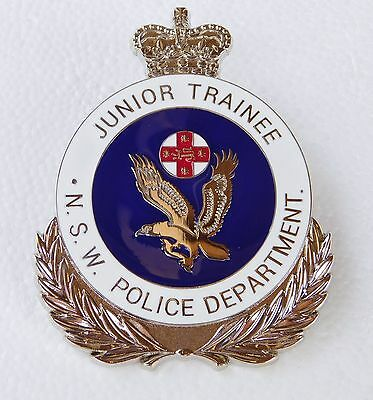 NSW Police Department Junior Trainee obsolete replica badge Not Fire Rescue