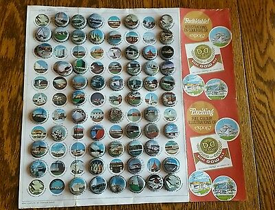 VINTAGE MONTREAL EXPO 67 DOW Beer Advertising Pavilions on bottle caps Canada