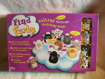 Find Furby Talking Electronic Matching Game from TIGER ELECTRONICS NEW VERY RARE
