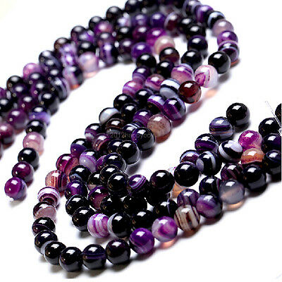 5-40Pcs Agate Faceted Round Beads Gemstone Semi Preious Stone 4/6/8/10/12 mm