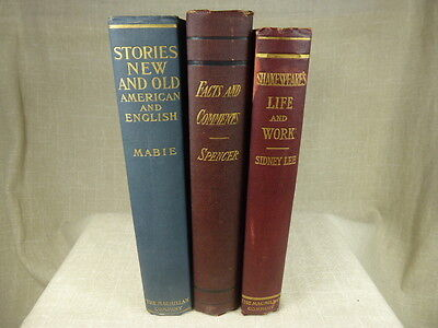 Lot of 3 Vintage 1900s Books 1st Editions ? Stories New And Old American English