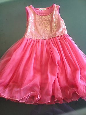 Girls Sequin Tulle Dress Size 4 Excellent Condition Lined