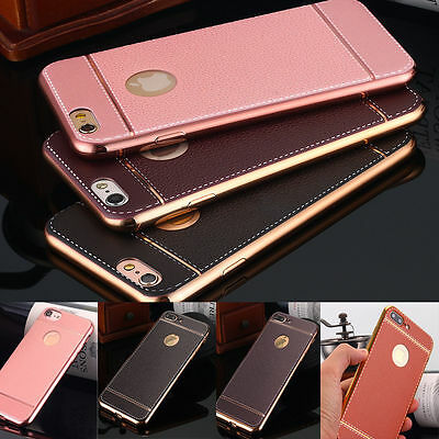 Luxury Slim PU Leather Ultra-thin Soft Phone TPU Case Cover for iPhone 6s 7 Plus