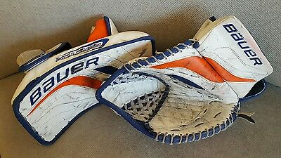 Bauer Reactor 6000 Pro Stock Goalie Glove and Blocker Full Right