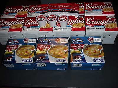 Sixty Campbells & Progresso Keurig Hot Broth K-Cups Pods & Noodles Packets,new
