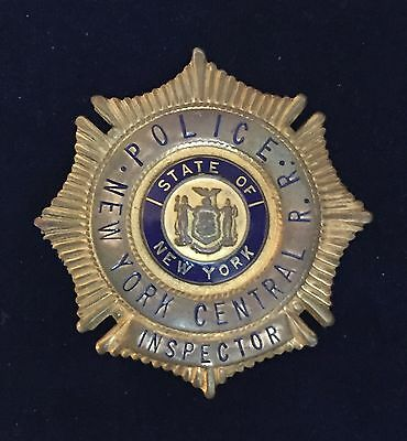 1950's Gold New York Central Railroad Co. Police Inspector Badge