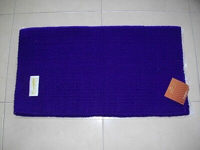 Dakota Kashmilon Western Saddle Pad Cloth Blanket - Purple - New