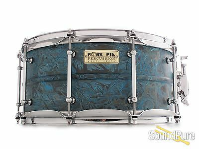 6.5x14 Pork Pie Percussion Patina Brass Snare Drum