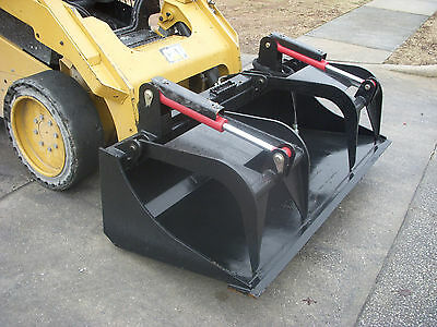 "Kubota Skid Steer Attachment 72"" Heavy Duty Bucket Grapple - Ship $199"