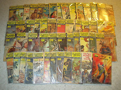 Vintage lot of 49 issues of Classics Illustrated Comic Books
