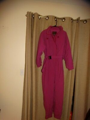 vintage EDDIE BAUER womens 16 tall oink fuchsia snowsuit snowboard THINSULATE 3M
