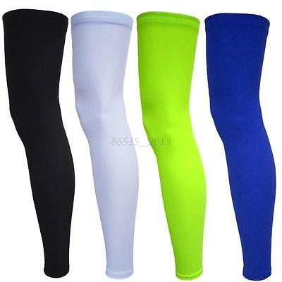 1Pair Slim Cooling Leg Sleeves Cover UV Sun Protection Basketball Golf Athletic