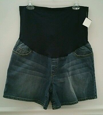 Liz Lange Maternity Overbelly Jean Shorts Size L With Pockets