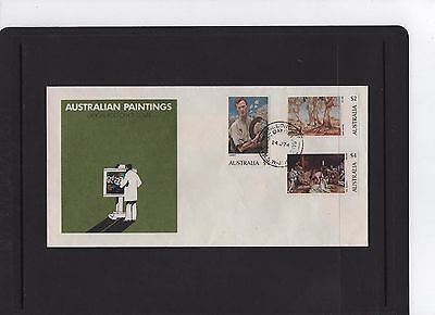 1974 Australian Paintings $1-$2- $4 First Day Cover NSW Cancel