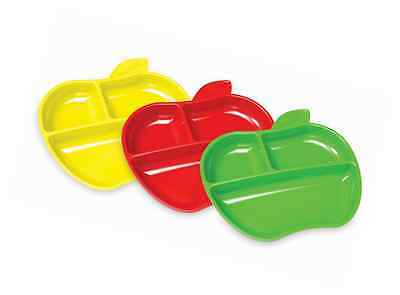 Munchkin Lil Apple Plates Baby Toddler Training Feeding Plate FAST FREE DELIVERY