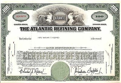100 sh 1963 OLD CANCELED STOCK CERTIFICATE ATLANTIC REFINING COMPANY
