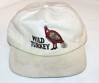 1980's Vintage WILD TURKEY Bourbon Whiskey Snapback Hat Embroidered Collectible