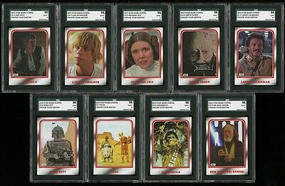 2015 STAR WARS Choose your destiny full graded Set 1 to 9 (SGC 96 to 98) RARE