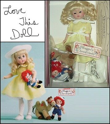 "Lissy 12"" Jointed elbows knees - Raggedy, Ann, & Andy - Madame Alexander Doll"