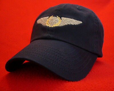 Federal Express (FEX) Captain's Pilot Wings ball cap low-profile hat Navy-Blue