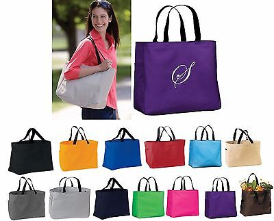 Monogrammed Tote Bags, Personalized Bridesmaid Gifts, Tote bag with Initial