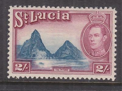 St. LUCIA, 1938 KGVI, The Pitons, 2s. Blue & Purple, lhm.