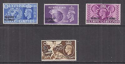 BAHRAIN, 1948 Olympic Games set of 4, lhm.