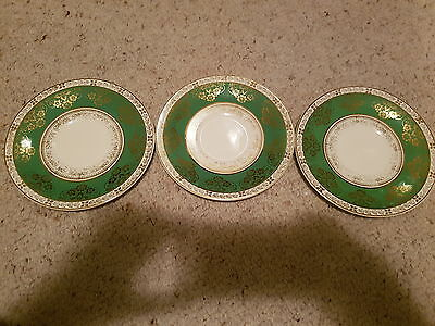 CROWN DUCAL 3 x Side Plates 16.5cm, Made in England