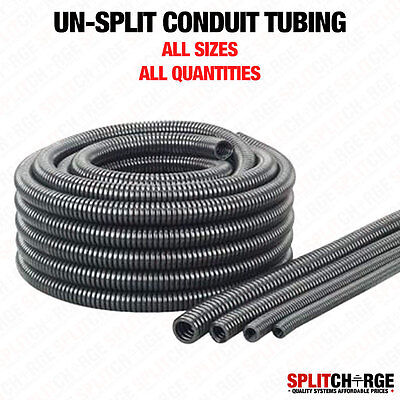 Black Spiral Conduit Non Split Unsplit Tube Tubing Cable Tidy Trunking Loom