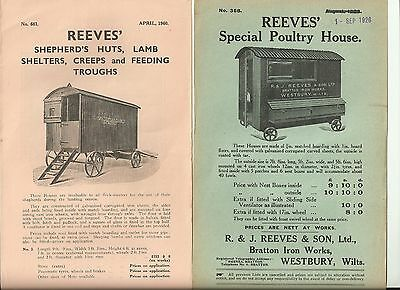 R&J Reeves & Son Sales Leaflets for Shepherds Huts and other Farming Equipment