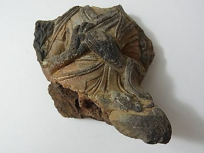 Antique  Mongolian Buddhist Hand Made Clay Statue Fragment