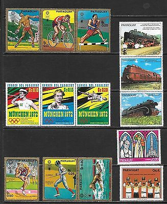 PARAGUAY All Mint Large Pictoral Issues Selection Many MNH (Dec 0193)