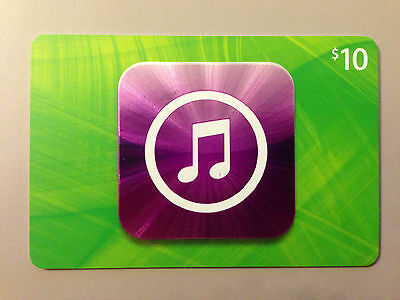 New Authentic US $10 Apple iTunes Gift Card iphone ipod