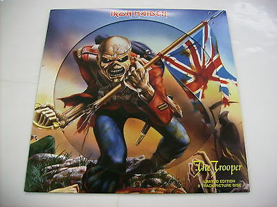 "Iron Maiden - The Trooper (Live) - Rare 12"" Picture Disc Vinyl 2005 3 Tracks"