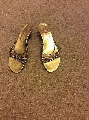 Ladies UK Size 6 Jones Gold Sandals