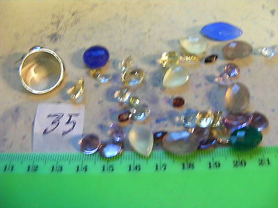 Lot of 35 Genuine Faceted Gemstones,natural mined stones..(Lot 35)