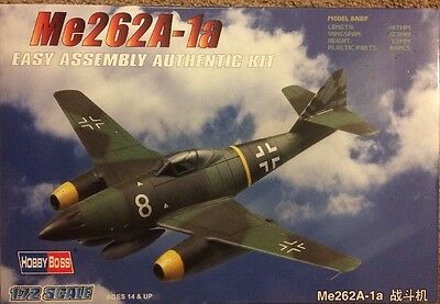 Hobbyboss 1:72 Scale - Me262 A-1a Complete Instructions WWII