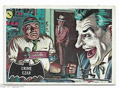 1966 Topps BATMAN Black Bat (10) Crime Czar