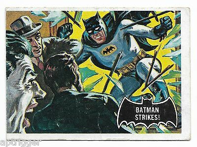 1966 Topps BATMAN Black Bat (12) Batman Strikes