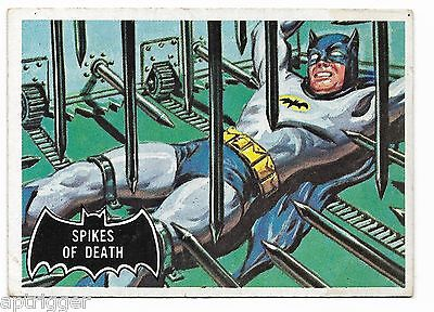 1966 Topps BATMAN Black Bat (17) Spikes Of Death