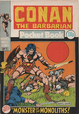 Conan Pocket Book 9 British Marvel Barry Smith Reprints Issue 1