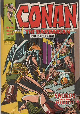 CONAN POCKET BOOK 10 1st APP RED SONJA BRITISH MARVEL BARRY SMITH REPRINTS