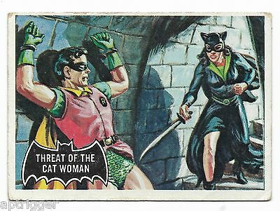 1966 Topps BATMAN Black Bat (31) Threat Of The Cat Woman