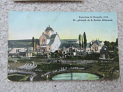 Vintage 1910 Belgium Brussels Exhibition Postcard - Germany Section