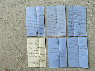 6x 1869 Solicitor Letters from Wellington Place, Pilgrim St, Newcastle upon Tyne