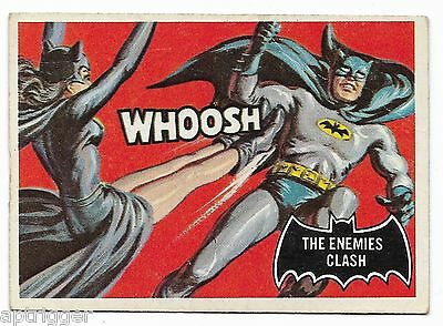 1966 Topps BATMAN Black Bat (33) The Enemies Clash
