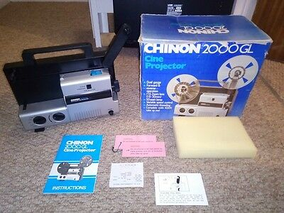 CHINON 2000GL VARIABLE SPEED SUPER 8 + STANDARD 8mm CINE MOVIE FILM PROJECTOR