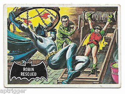 1966 Topps BATMAN Black Bat (38) Robin Rescued