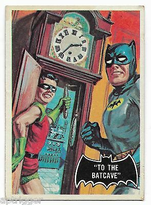 1966 Topps BATMAN Black Bat (39) To The Batcave