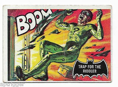 1966 Topps BATMAN Black Bat (45) Trap For The Riddler